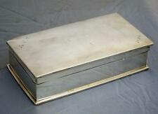 BEAUTIFUL WEIGHTY ANTIQUE STERLING SILVER CIGARETTE BOX 1924