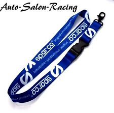 Sparco Official Racing Universal Lanyard Neck Strap Key Chain 099BADGE - Blue