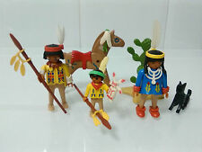 PLAYMOBIL REF 3396 FAMILIA INDIA INDIAN FAMILY WESTERN RESERVA INDIOS INDIO