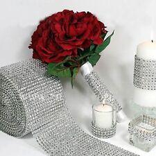 Silver DIAMOND MESH WRAP ROLL TWINKLE RHINESTONE Crystal Ribbon Wedding Favor
