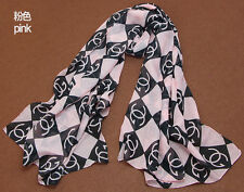 Brand New Women Stylish Silk Scarf Foulard Chiffon Scarves Shawl Pink Elegant