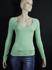 ONE STEP Taille 38 très joli tee shirt manches longues femme vert T-shirt top