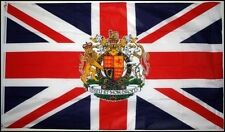 3' x 2' UNION JACK with QUEENS ROYAL CREST FLAG UK Standard Armed Forces Day