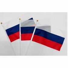 USSR Hand Table Flag 10pcs Russian Federal HELD STICK Small FLAGS Festivals CCCP