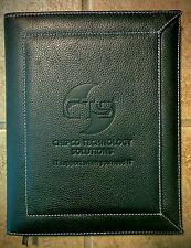 "Leather Bound Journal Book - Branded ""Chipco Technology Solutions"""