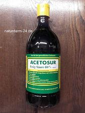Essig-Essenz 80%, Acetosur Essig-Säure 80%,1 Liter, Lebensmittelqualität, dunkel