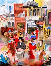 """ZULE MOSKOWITZ """"BUENOS AIRES II"""" Hand Signed & Embellished Serigraph"""