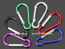 12 x Wholesale Lot Set Carabiner Aluminum Key Chain Ring Holder Party Favor