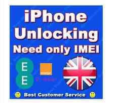 Sblocco IPHONE 3G 3GS 4 4S UK ARANCIONE T EE UK FACTORY UNLOCK