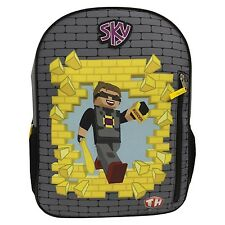 "New Sky Tube Heroes Minecraft Budder 16"" Large Full Size School Travel Backpack"