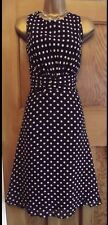 WALLIS❤️ Beautiful Vintage Style 50's Black Polka Dot Dress size 16 Party