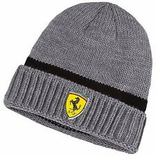 NWT PUMA Ferrari SF Official Medium Gray Heather Knit Beanie Cap Hat Adult OSFA