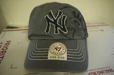 Authentic New York Yankees Adjustable cap by 47 brand Black/Gray New with tags