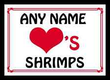Love Heart Shrimps Personalised Placemat