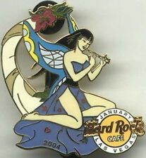 Hard Rock Cafe LAS VEGAS 2004 Sexy FAIRY GIRL Series PIN #1/12 January Flute