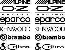12 Matt Black Car Door Stack  Sponsor Logo Stickers,Graphics,Decals