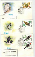 Full Set of Bird Stamps on 5 FDC-s, Soviet Union, VF, 1979