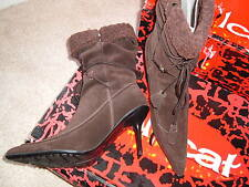 SUEDE FASHION BOOTS, BNIB, BROWN UK6 EU39