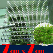 5  x Aquarium Stainless Steel Wire Mesh Pad For Aquarium Moss (7cm x 7cm)