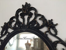 Black framed Bathroom Mirror Vanity Mirror Ornate Large Mirrors With gold