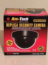 Am-Tec Dummy Camera CCTV Security Fake With Flashing LED, Motion Activated-X2