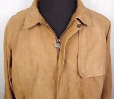 Marlboro Mens Leather Bomber Jacket Size XL Snap Over Pocket Flap Fully Lined