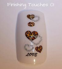 Nail Art Water Transfer- Glitter Heart #124 BJC-095 Animal Sticker Valentine