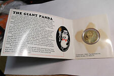 1984 CHINA BRASS PANDA 1 YUAN WITH CARD AS PICTURED KM58 .... FREE SHIPPING