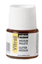 PEBEO Vitrail Peinture sur Verre Bouteille 45ml paillettes moyennes