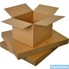 "4"" x 4"" x 4""  Kraft Shipping Corrugated Storage Mailing Postal Boxes 25 Pc"