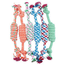 Cotton 1PC Puppy Dog Pet Animal Braided Bone Rope Chew Knot Colorful Playing Toy