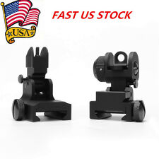 Metal Flip Up Front & Rear Iron Sight Set For Hunting Picatinny Rail Flat Top US