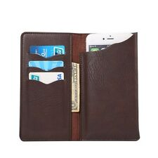 High Quality PU Leather Flip Wallet Slots Case Cover For Various Smart Phones
