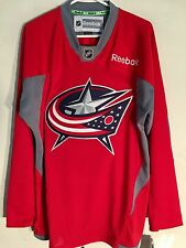 Reebok Practice  NHL Jersey Columbus Blue Jackets Team Red sz XL