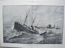 1881 LOSS OF THE CLAN MACDUFFBOAT FROM THE UPUPA GOING TO THE RESCUE