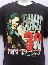 Elvis Presley 30th always the original collectible black tee t shirt sz L large