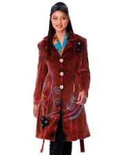 RISING INTERNATIONAL 100% COTTON BRICK BROWN VELVETY COAT