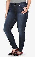 TRENDY TORRID MEDUIM WASH STRETCHY SLIM FIX SKINNY JEANS DENIM PLUS Sz 18