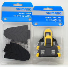 Shimano Road SPD-SL Pedal SM-SH11 6 Deg Float Shoe Cleats & SM-SH45 Cover Set