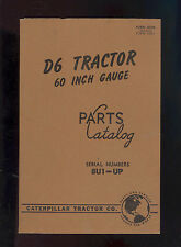 1951 CATERPILLAR D6 TRACTOR PARTS MANUAL / SERIAL NUMBER 8U1-UP / FORM 30324