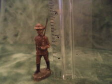 Vintage Elastolin Composition U.S. Soldiers Officer With Sword Marching Germany