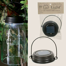 Country/Primitive/Cottage HANGING Solar Light Lid For Mason Jar - RUSTIC BROWN