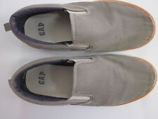 GAP Kids Oxford Cotton Canvas Slip-on Sneakers Gray Size 4 Youth