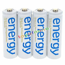 4x AAA 3A 2000mAh 1.2V Ni-Mh Energy Rechargeable Battery White Cell for RC MP3