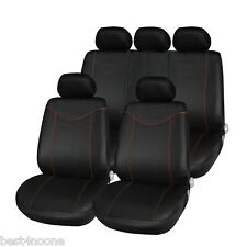 T21638 11pcs Car Low-back Seat Cover Set Water-resistant Auto Cushion Protector