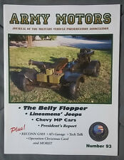 2000 #93 FALL ARMY MOTORS MILITARY MAGAZINE HOWIE WILEY BELLY FLOPPER MVPA ALLEN