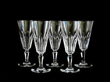 Set of Baccarat Crystal Glass Biarritz Champagne Flute Wine Glasses