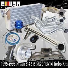 240sx S14 15 SR20 Cast MANIFOLD+Elbow+Downpipe+Intercooler T3/T4 Turbo Kits