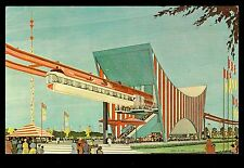 1964 design for AMF Monorail station New York World's Fair exposition postcard