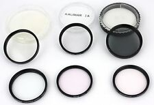 Lot of 6 52mm and 55mm size Lens Filters UV,  PL, 1A Skylight,  Center Spot
